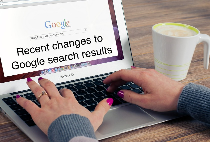 Google search engine results change