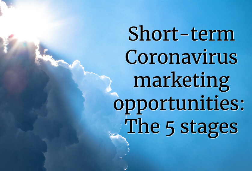 Short-term Coronavirus marketing opportunities: The 5 stages